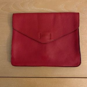 Gap Leather Envelope Cluch